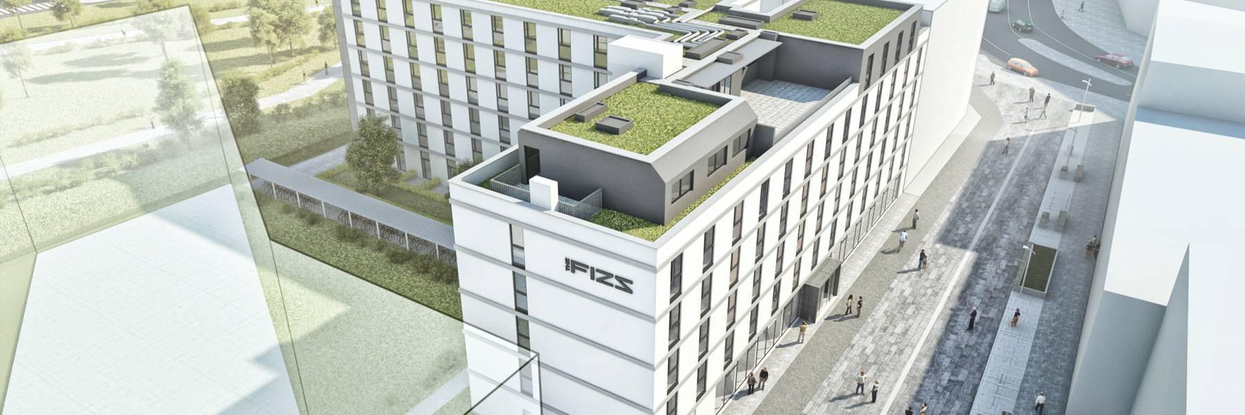 FIZZ Studentenheim Wien (Visualisierung des Architekten)